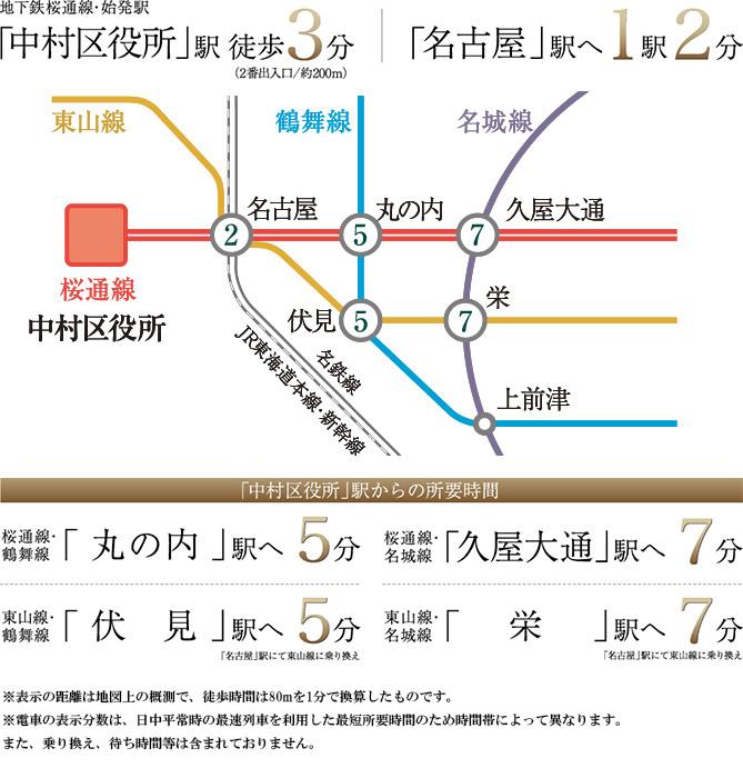 ヴィー・クオレ レジデンス名古屋駅:交通図