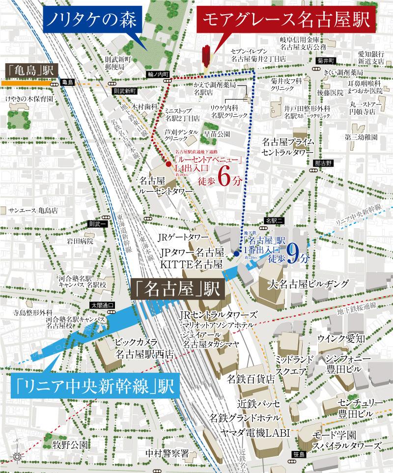 モアグレース名古屋駅:案内図