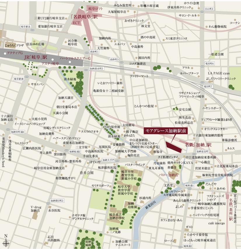 モアグレース加納駅前:案内図