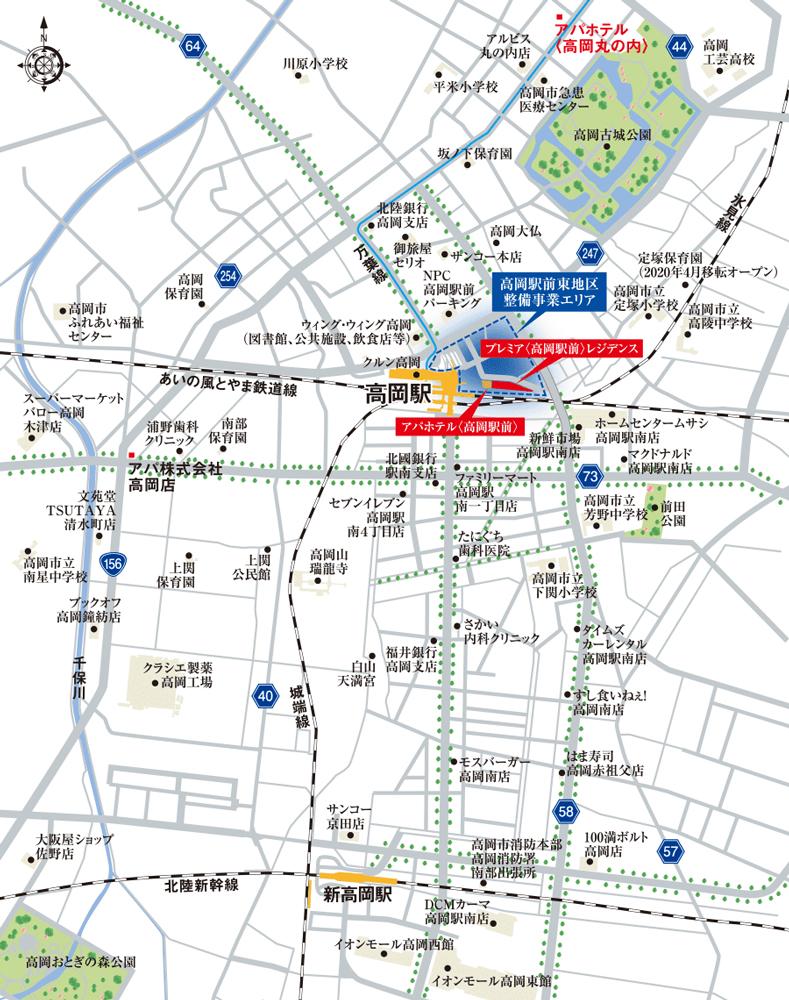 プレミア〈高岡駅前〉レジデンス:案内図
