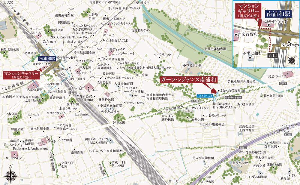 ガーラ・レジデンス南浦和:モデルルーム地図