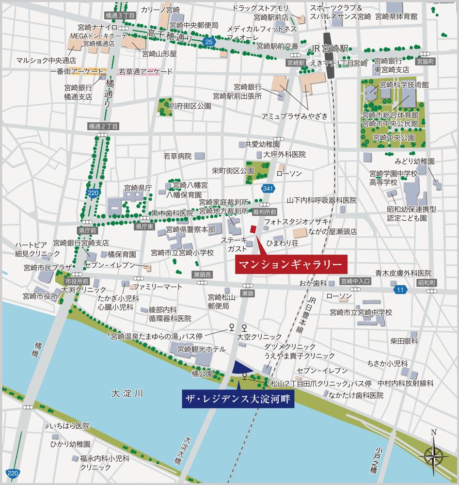 ザ・レジデンス大淀河畔:案内図