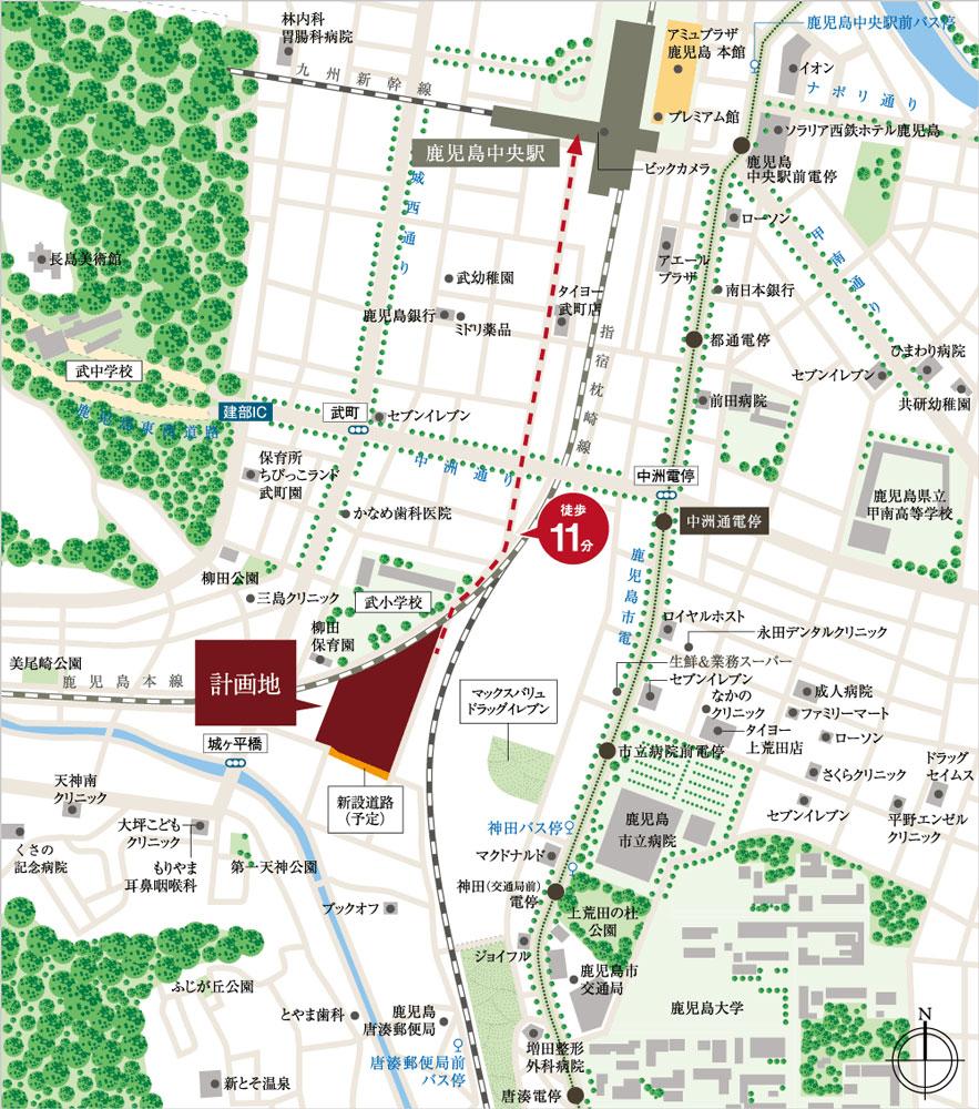 MJRザ・ガーデン鹿児島中央:案内図