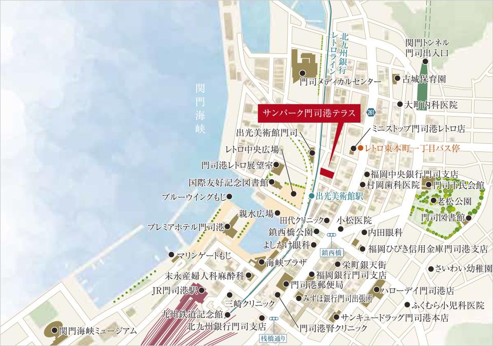 サンパーク門司港テラス:モデルルーム地図