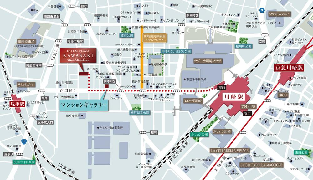 エステムプラザ川崎ウエストレジデンス:モデルルーム地図