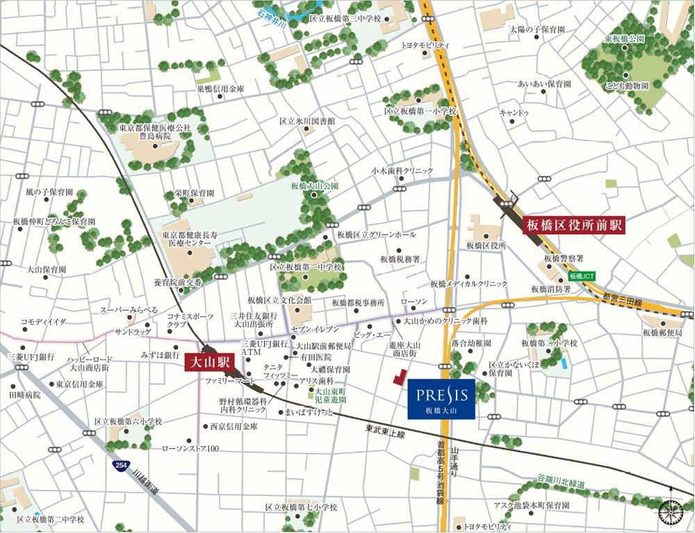 プレシス板橋大山 第1期:案内図