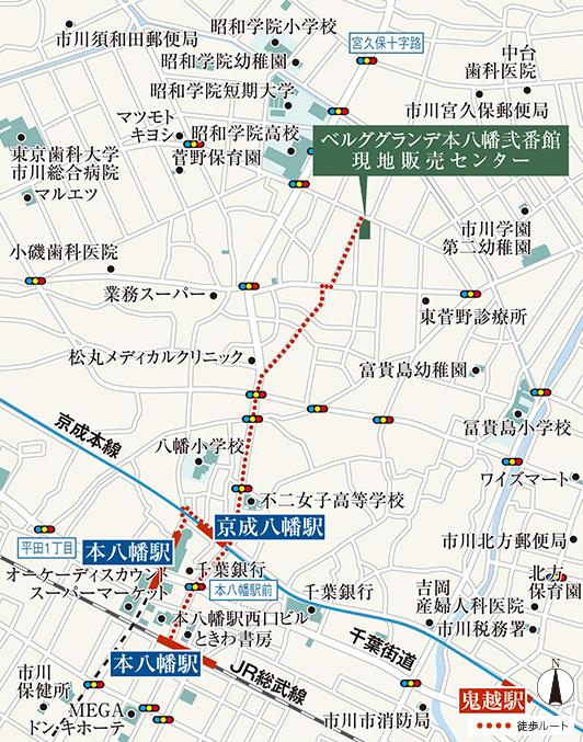 ベルググランデ本八幡弐番館:モデルルーム地図