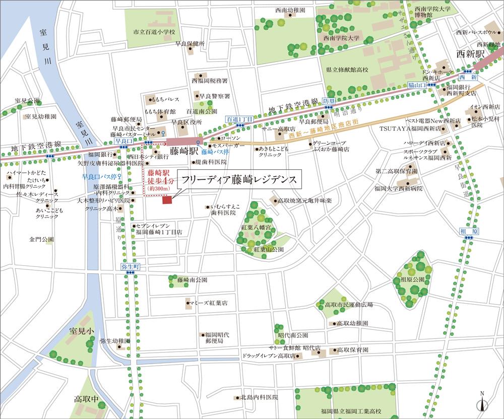 フリーディア藤崎レジデンス:モデルルーム地図