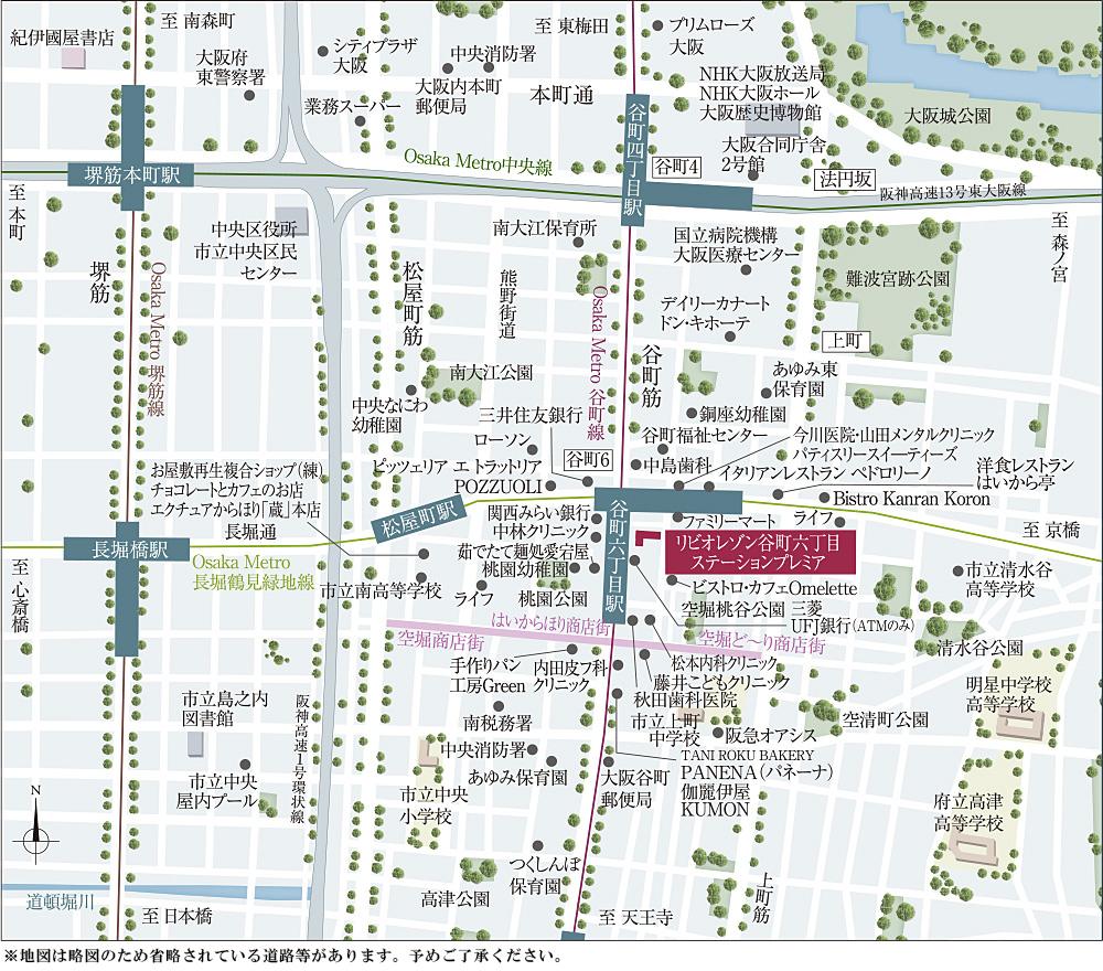 リビオレゾン谷町六丁目ステーションプレミア:案内図