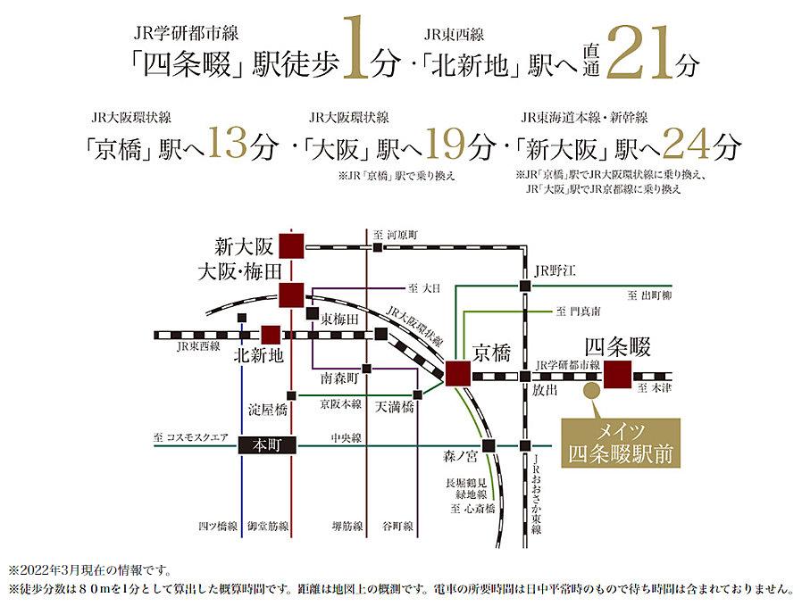 メイツ四条畷駅前:交通図