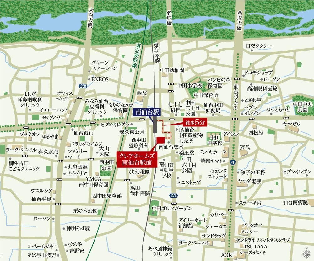 クレアホームズ南仙台駅前:案内図