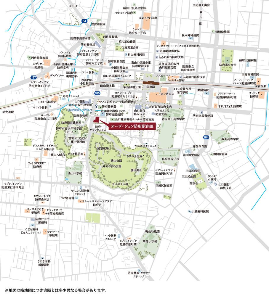 オーヴィジョン防府駅南III:案内図