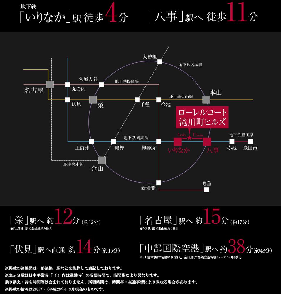 ローレルコート滝川町ヒルズ:交通図