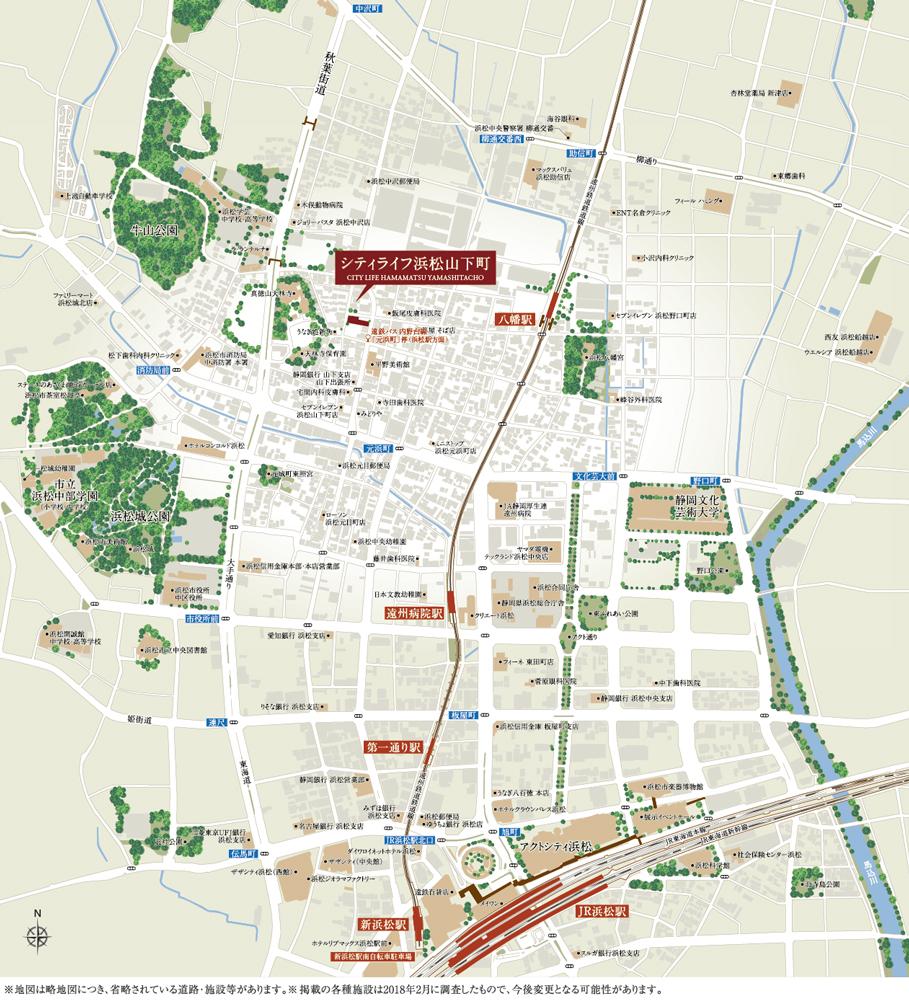 シティライフ浜松山下町:案内図