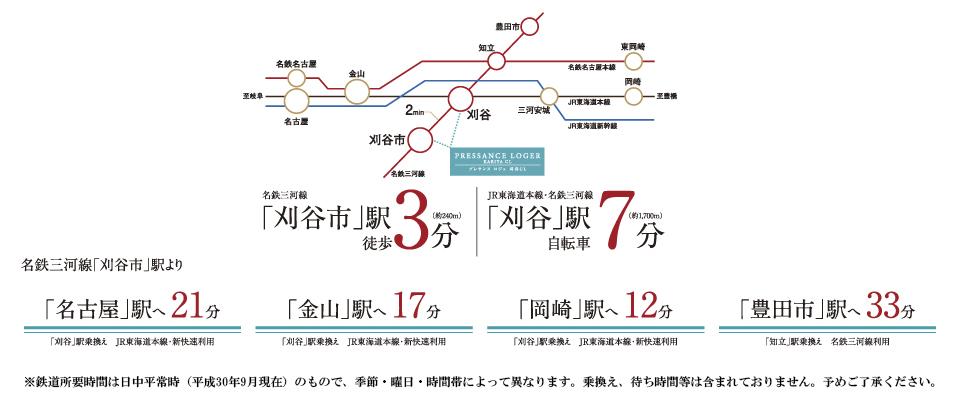プレサンス ロジェ 刈谷CL:交通図