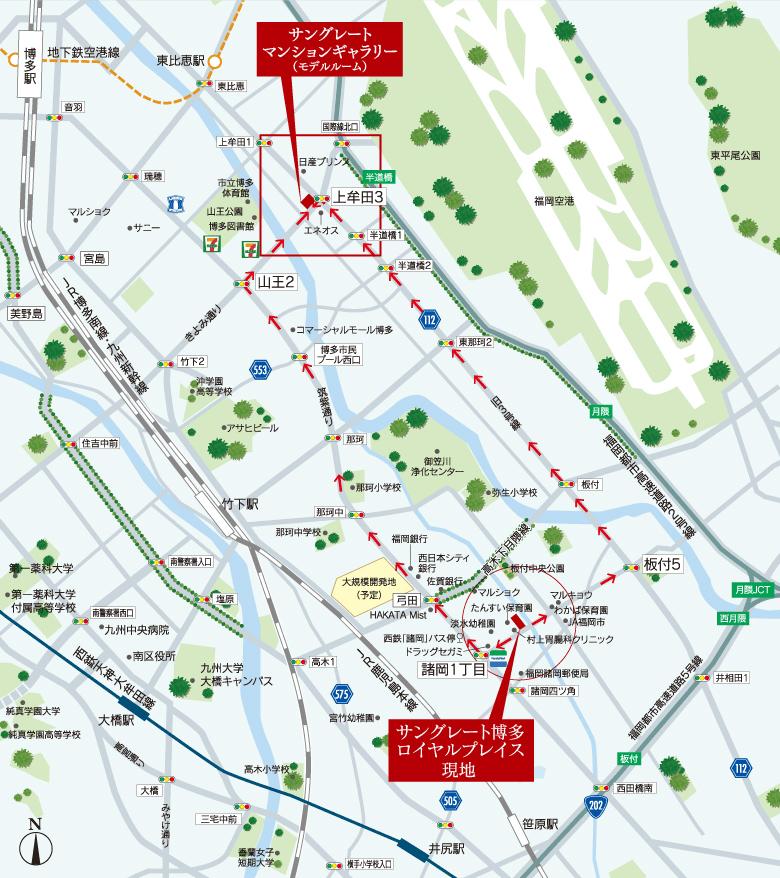 サングレート博多ロイヤルプレイス:案内図