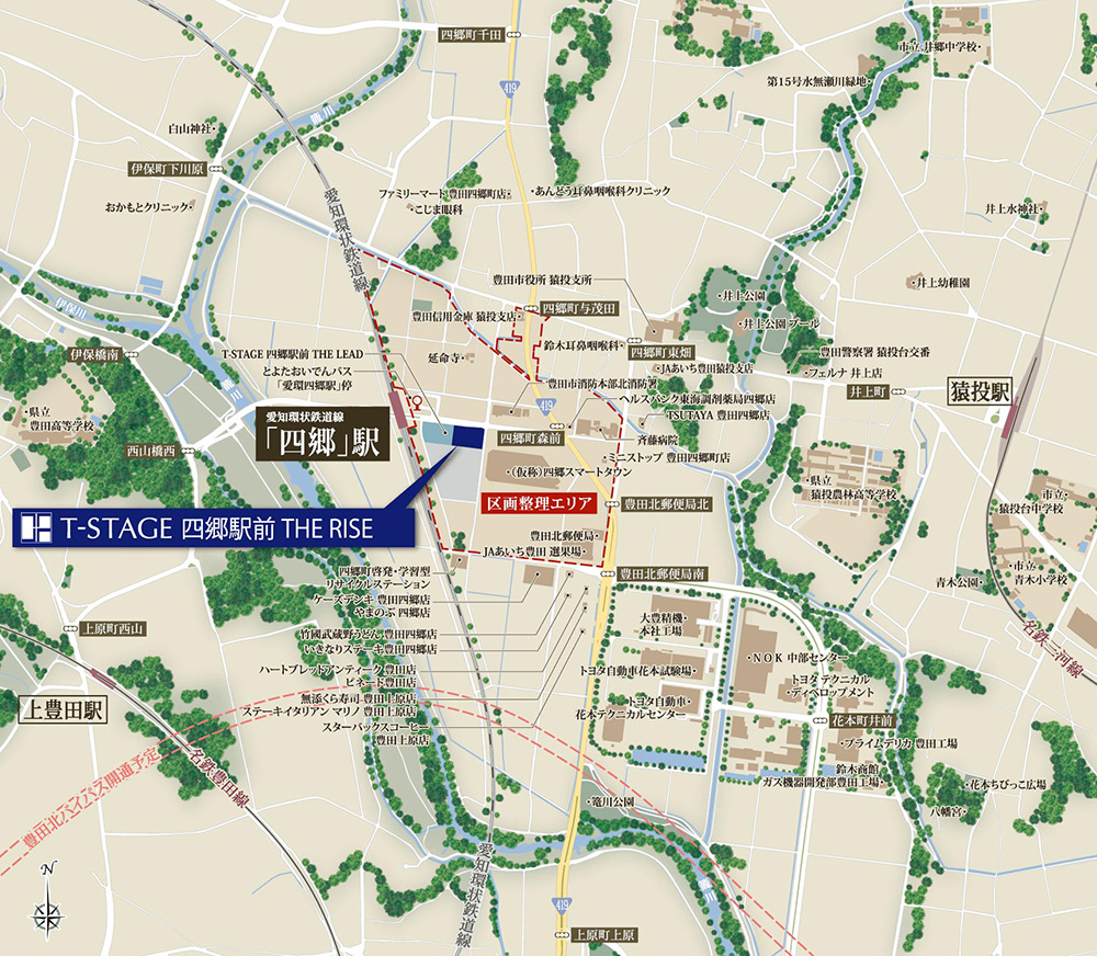 T-STAGE 四郷駅前 THE RISE:案内図