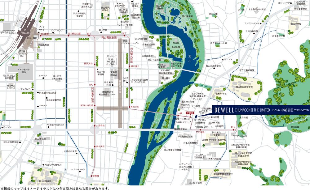 ビ・ウェル中納言II:モデルルーム地図