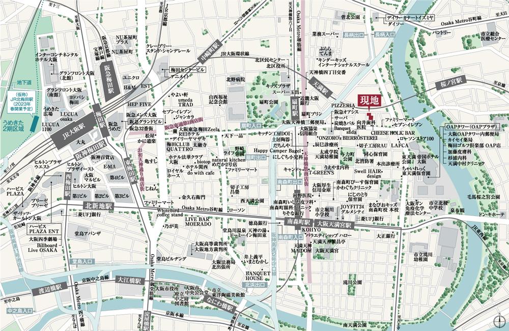 ラシュレ大阪同心:案内図