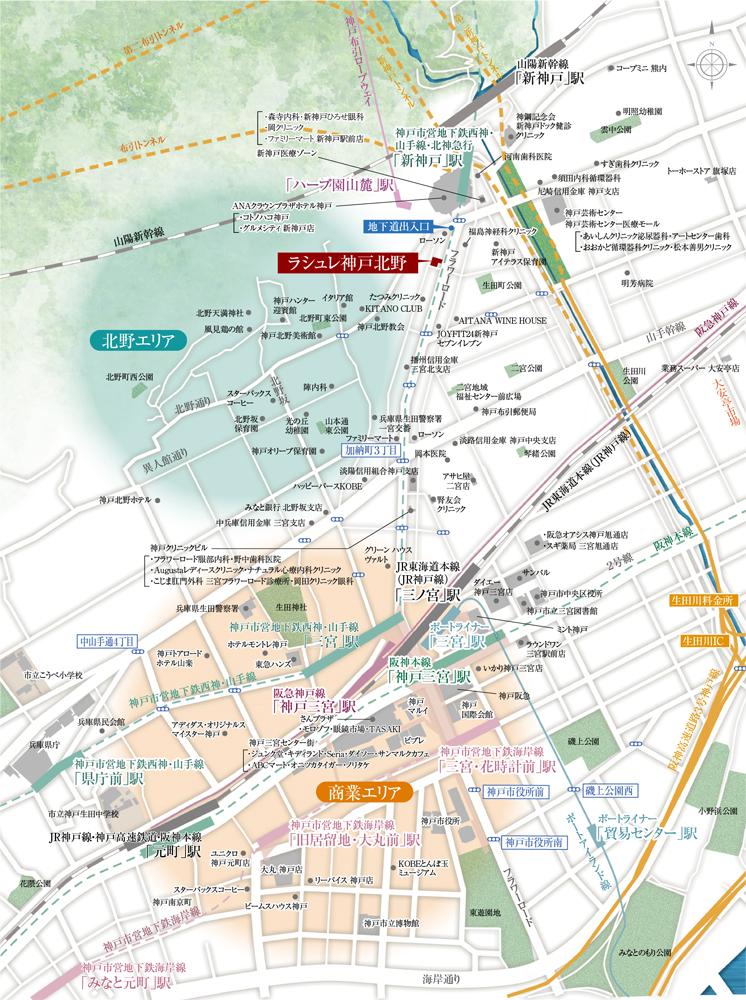 ラシュレ神戸三宮:案内図