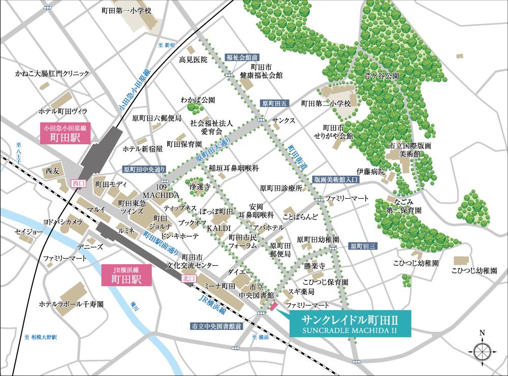 サンクレイドル町田II:案内図