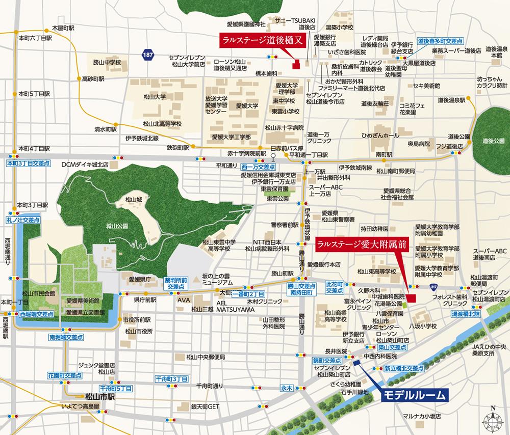 ラルステージ愛大附属前:案内図