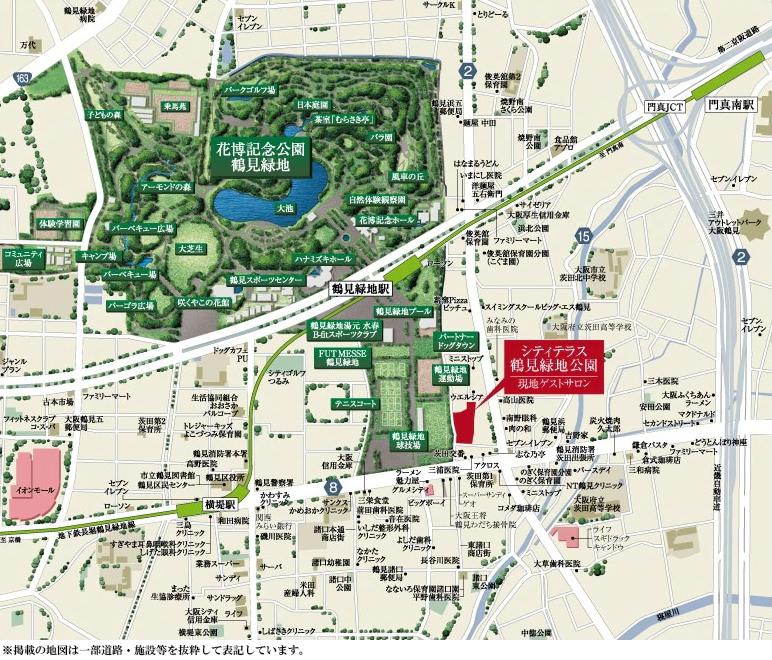 シティテラス鶴見緑地公園:案内図