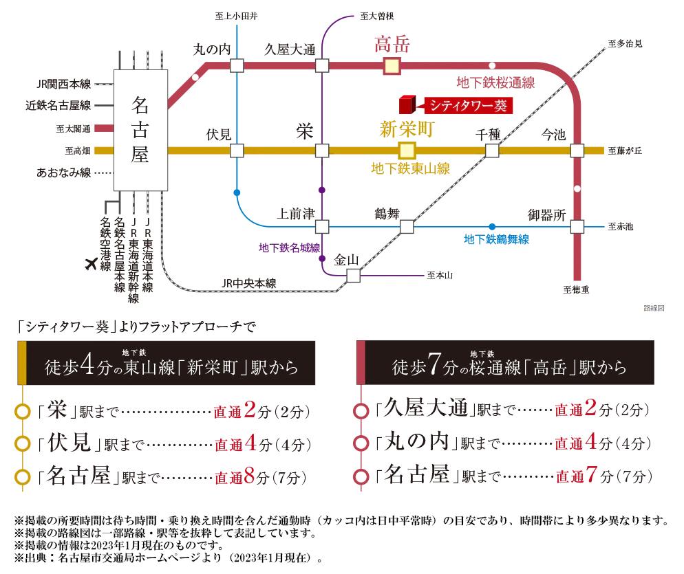 シティタワー葵:交通図
