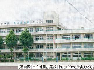 市立仲町小学校 約1,120m(徒歩14分)