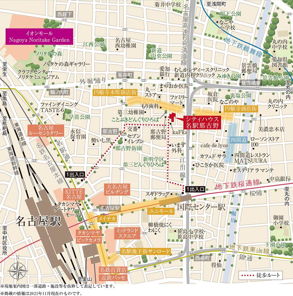 シティハウス名駅那古野:案内図