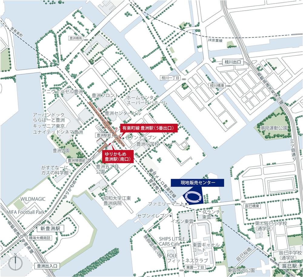 プラウドシティ東雲キャナルマークス:モデルルーム地図