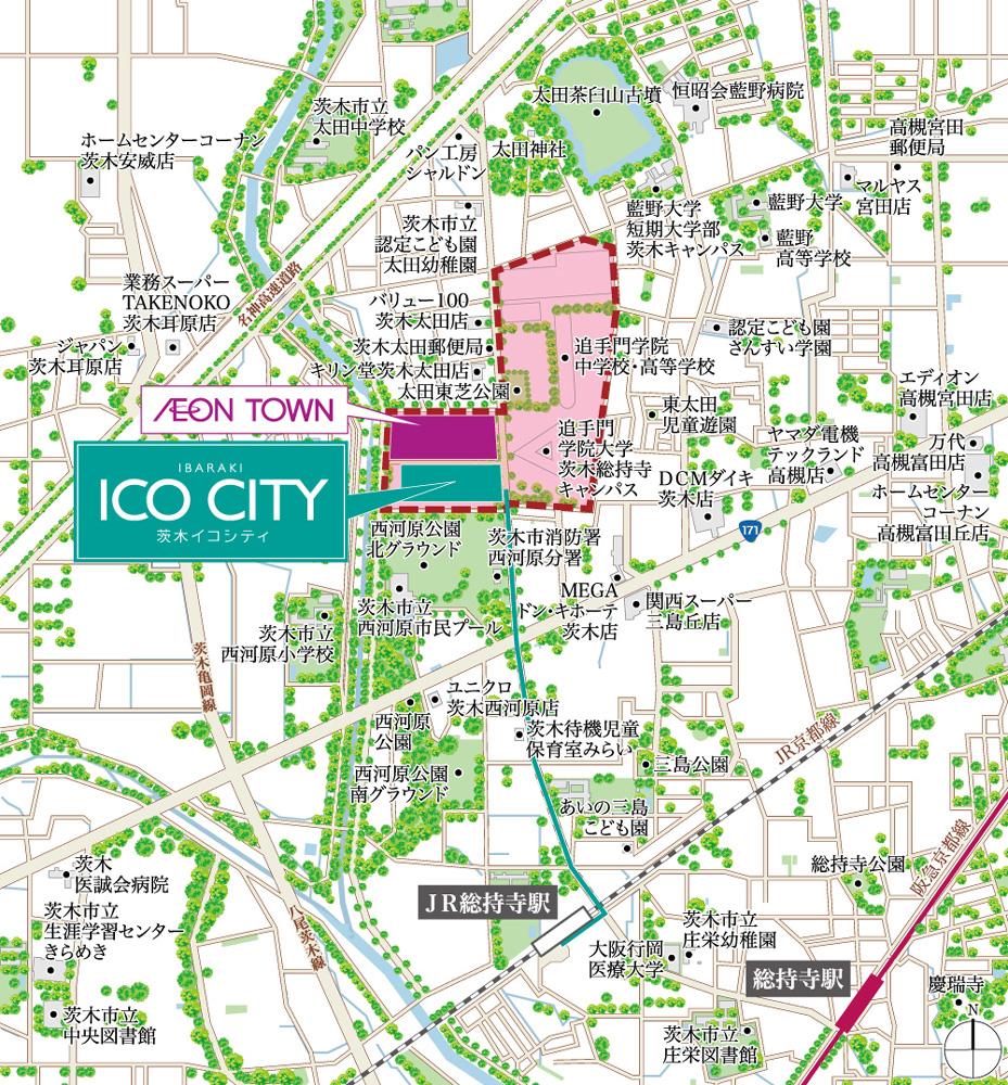 茨木ICO CITY:案内図