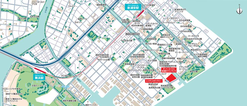 ザ・パークハウス 新浦安マリンヴィラ(第1工区) テラスプラザ・ベイプラザ:案内図