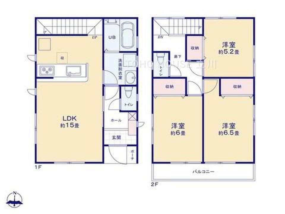 間取り 一軒家 home's】~耐震等級3~ 耐震性能が最も高いランクの一軒家|府中市
