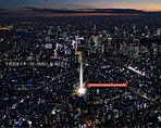 ※掲載の航空写真は平成28年11月に撮影したものです。また、現地の位置を表現した光は建物の規模や高さを示すものではありません。