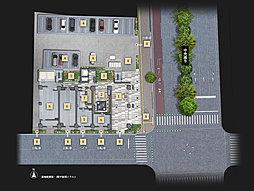 敷地配置図・1階平面図イラスト