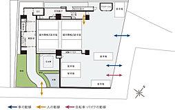 1・2階平面図・敷地配置概念図