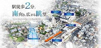 大阪と奈良を結ぶターミナルシティの近鉄「生駒」駅界隈は、県下有数の邸宅街としてますます魅力を進化させ続けている。そんな利便性と賑わいを兼ね備えた駅北口エリアから徒歩2分の地に誕生する。