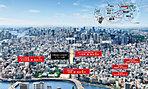 空撮写真 ※平成29年10月に撮影したものに一部CG加工を加えたもので実際とは異なります。