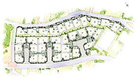 全32邸の大規模プロジェクト。繋がりを意識したランドプラン。