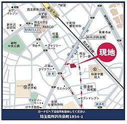 ライフイズム 所沢・泉町 【 建築条件付売地:残り2区画 】:案内図