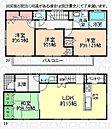 【 間取り 】 延床面積 91.91m2(27坪