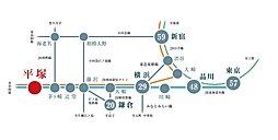 ビーチガーデン湘南平塚:交通図