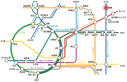 【陽当良好】グランコート野田・梅郷 売地:案内図