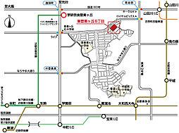 ピーコン 東登美ヶ丘6丁目(建築条件付宅地):案内図