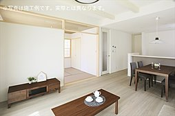 LDと一体利用可能な和室を設置した4LDK(施工例写真)