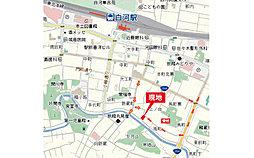 アイダ設計 【白河市南町16-P1】 白河第一小学校まで徒歩9分(700m):案内図