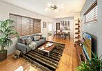 家族との団らんを楽しめる、LDK+テキスタイルフロアルーム合計21帖以上の広々空間の家。