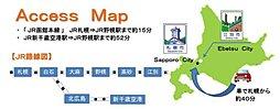 【豊栄建設の土地】ラ・ヴェルデ野幌 江別市緑ヶ丘:交通図