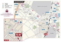 【茨城グランディハウス】グランエクシールひたちなか市武田【堀口小学校 徒歩10分】:交通図
